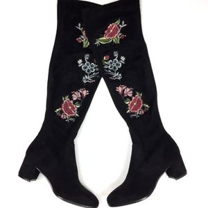 Impo Stretch Elaine Embroidered Knee High Boot